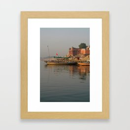 Reflections in the Ganges Framed Art Print