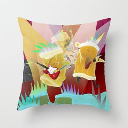 punk & cheers   Throw Pillow