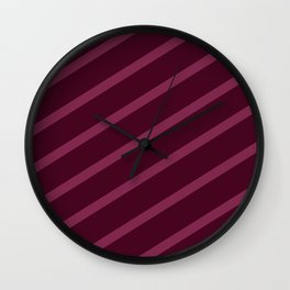 Cross Hatched 3 Wall Clock