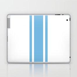 Ribbon White and Blue Laptop & iPad Skin