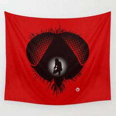 The Fly (Red Collection) Wall Tapestry