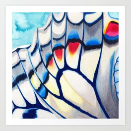 Butterfly Wings Blue Art Print