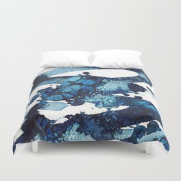 A beautiful spring morning on the beach. Duvet Cover