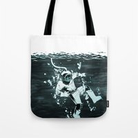 diver Tote Bags featuring Diver by ghoste