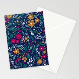 Block Print Botanical Stationery Cards
