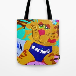 Funky Cat Wild thing Tote Bag