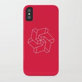 Minimal /  Chakra Symbol Art / Optical Illusion Star iPhone Case