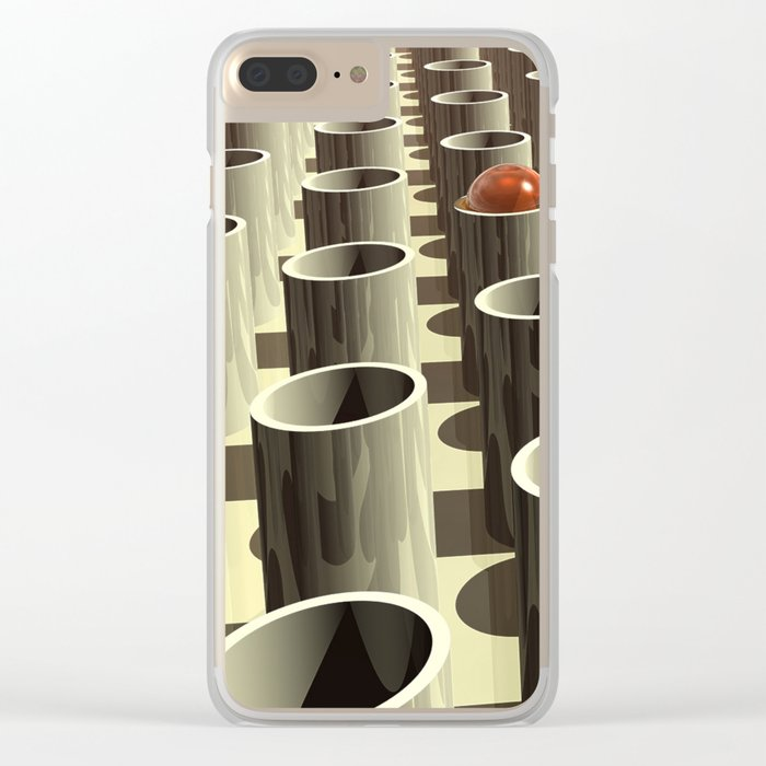 Stockyard of Cylinders Clear iPhone Case