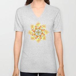 Flower Garden Mandala Unisex V-Neck