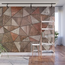 Stained Glass Triangles Ombre Wall Mural