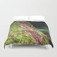 moss Duvet Covers featuring Moss & Fungi by Chris' Landscape Images & Designs