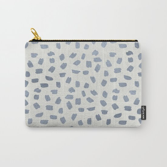 Simply Ink Splotch Indigo Blue on Lunar Gray Carry-All Pouch