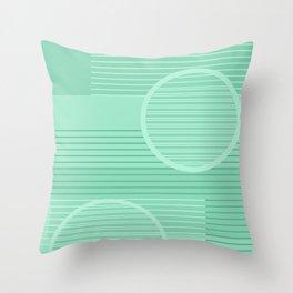 Geometric Minimal - Neo Mint Throw Pillow