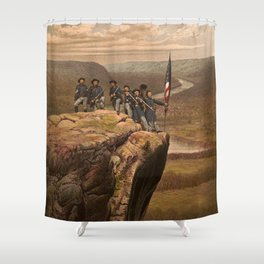 Union soldiers at Point Lookout, Tennessee Shower Curtain