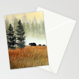 Roaming Bears In West Virginia Stationery Cards