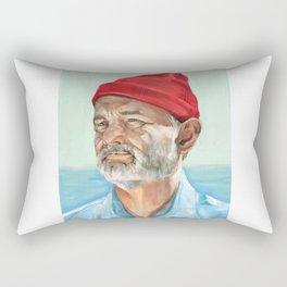 Steve Zissou Bill Murray Painted Portrait Rectangular Pillow