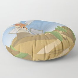 a quijote's glance Floor Pillow