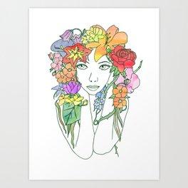 Beauty in Bloom - Lined Art Print