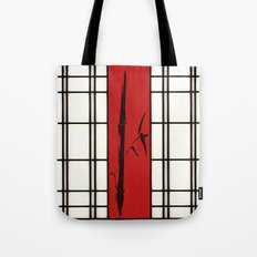 Shoji with bamboo ink painting Tote Bag