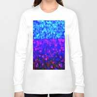 sparkles Long Sleeve T-shirts featuring Sparkles Glitter Blue by Saundra Myles
