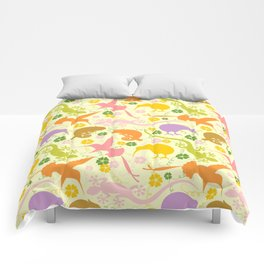 Animals Exotic Pastel Colors Shapes Pattern Comforters