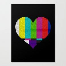 Heart TV Canvas Print