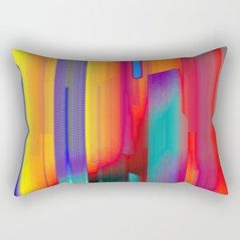 Glitch Fire. Ultraviolet Cityscape Rectangular Pillow