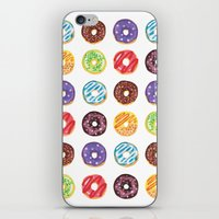 doughnut iPhone & iPod Skins featuring Doughnut delights by Phibbit