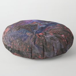 Volcano of Colors Floor Pillow