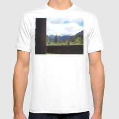 Peeking Out MEDIUM Mens Fitted Tee White