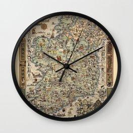 Map of Ireland Wall Clock