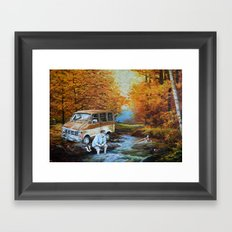 Living in a Van, Down by the River Framed Art Print