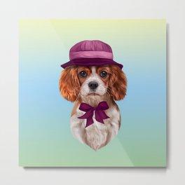 Drawing dog breed Cavalier King Charles Spaniel Metal Print