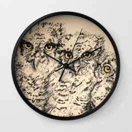 Owls 2.5 Wall Clock
