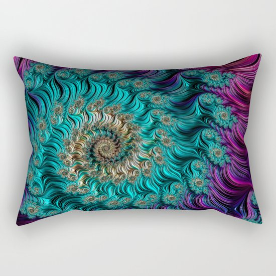 Aqua Swirl Rectangular Pillow