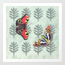 Summer's sojourn with butterflies Art Print