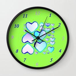 Garden of  hearts Wall Clock