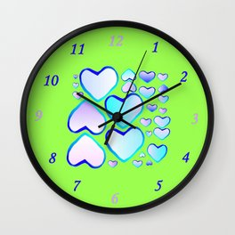 Garden of  hearts Wall Clock