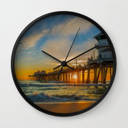Cold Sunset Wall Clock