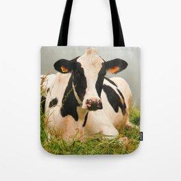 Holstein cow facing camera Tote Bag