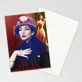 Maria Callas portrait III Stationery Cards