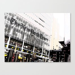 New York Times building shot via 8th Ave  - 620 8th Avenue, New York, NY Canvas Print
