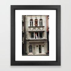 Three Rooms Framed Art Print