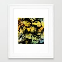 twins Framed Art Prints featuring twins by clemm