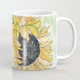 Fall Sunflower Bouquet in Pitcher Offset Coffee Mug