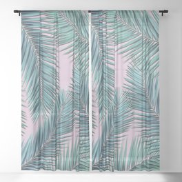 palm tree Sheer Curtain