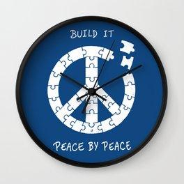 Peace By Peace Wall Clock