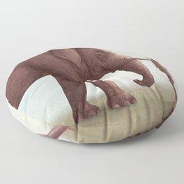 One Amazing Elephant - Back Cover Art Floor Pillow