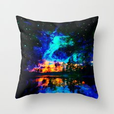 magical Lake Throw Pillow