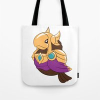 league of legends Tote Bags featuring League of Legends: Azir by Birbles